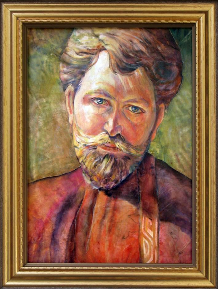Портрет художника а мухи маркетри